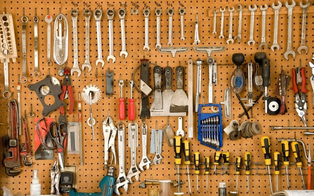 pegboard is great for garage storage